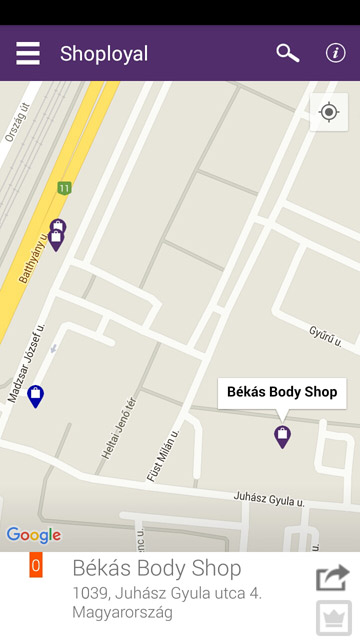 Shoployal térkép