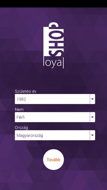 Shoployal regisztráció adatok